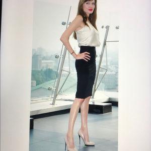 Sexy black pencil skirt
